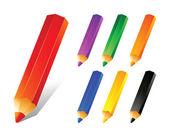 铅笔的颜色集 — 图库矢量图片