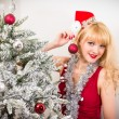 Woman with christmas bauble — Stock Photo #45460535
