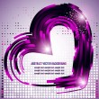 Valentines background with hearts element made from lines — Stock Vector #43949783