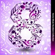 8 from music notes — Stock Vector #43949877