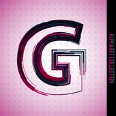 Letter g — Stock Vector