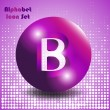 Button letter b — Stock Vector