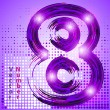 Number 8 with lights — Stock Vector #43950559