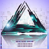 Fond triangle vecteur — Vecteur