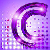 Letter c with lights — Stock Vector