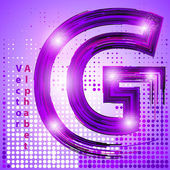 Letter g with lights — Stock Vector