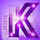 Letter k with lights — Stock Vector