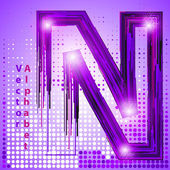 Letter n with lights — Stock Vector