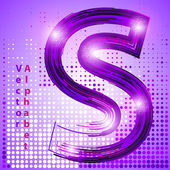 Letter s with lights — Stock Vector