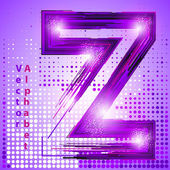 Letter z with lights — Stock Vector