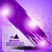 Background with purple elements and with lights — Stock Vector