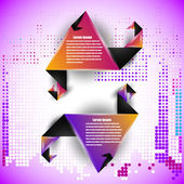 Abstract origami style business elements — Vettoriale Stock