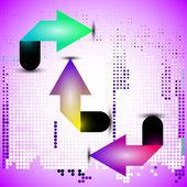Origami arrows — Stock Vector