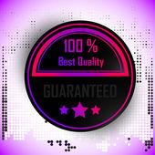 100 pourcents meilleure qualité garantie avec étoiles — Vecteur