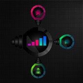 网站信息图表与灯泡 — 图库矢量图片