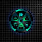 элемент дизайна с веб-иконки — Cтоковый вектор