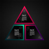 Triangle infographics with website icons — Vetorial Stock