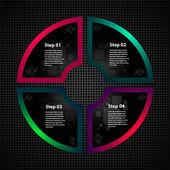 Circle website element — Vetor de Stock