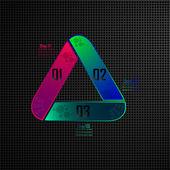 Triangle infographics — Stockvektor