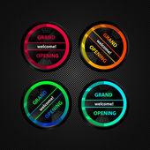 Circle website element — Stock Vector