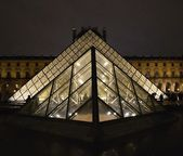 罗浮宫在雨中 — 图库照片