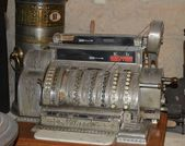 Retro cash desk — 图库照片