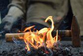 Blacksmith furnace — Stock Photo
