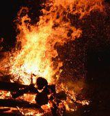 Hořící kouzelník — Stock fotografie