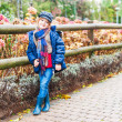Autumn portrait of a cute little girl — Stock Photo