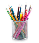 Color pencils in holder — Stock Photo