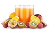 Suco tropical com frutas — Foto Stock