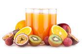 Tropikalnych soku z owoców — Zdjęcie stockowe