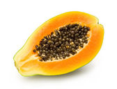 Papaya on white — Stock Photo