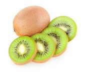 Whole and sliced kiwi — Stock Photo