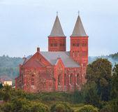 Old catholic church in Belarus — Stock Photo