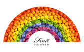 Fruit and vegetable rainbow — Stock Photo