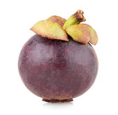 Ripe mangosteen isolated — Stock Photo