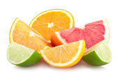 Colorful citrus slices — Stock Photo