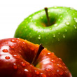 Two apples with water-drops — Stock Photo #49763613