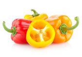 Colorful paprika peppers — Stock Photo