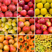 Vegetables and fruits backgrounds — Stock Photo
