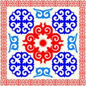 Kazakh national pattern ornament — Stock Vector