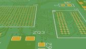 PCB green without elements — Foto de Stock