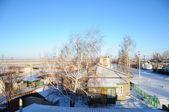 Winter village — Zdjęcie stockowe