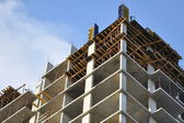 Construction of a multistory building — Stock Photo