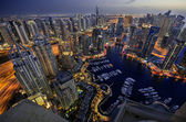 Dubai Marina at Blue hour — Stock Photo