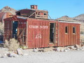 Caboose in Rhyolite Nevada — Stock Photo