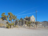 Railway station ruins in Rhyolite — Stock Photo