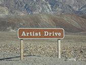 Umělci jednotky v death valley — Stock fotografie