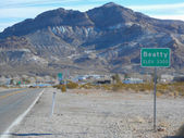 Beatty town in Death Valley — Stock Photo